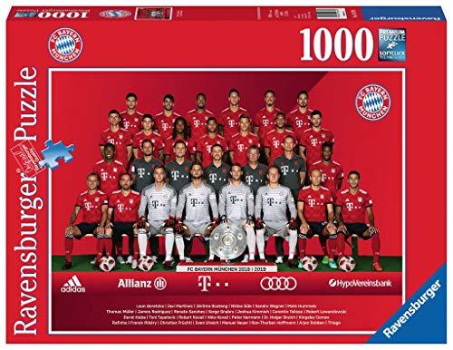 Ravensburger Unisex– Erwachsene Erwachsenenpuzzle 19879 FC Bayern Saison 2018/19, Puzzle, Bunt, 1000 Teile