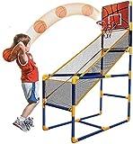 Canasta de baloncesto Set sistema de red de los niños, baloncesto de los niños de pie cubierta movible dispositivo de tiro de baloncesto inflable deportes al aire libre del soporte del baloncesto Depo