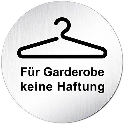 Kinekt3d Leitsysteme Schild Türschild • Für Garderobe Keine Haftung • Aluminium (eloxiert) Rund 100mm Ø