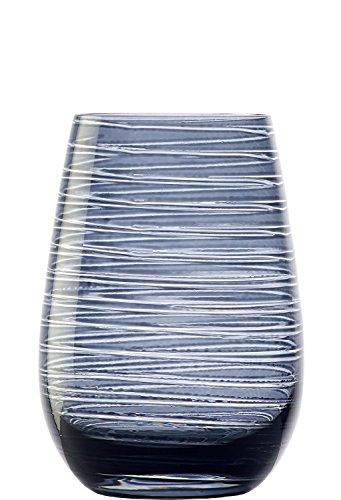 Stölzle Lausitz Gläser Twister 465 ml Rauchgrau I Trinkgläser 6er Set I Gläser-Set spülmaschinenfest I hohe Bruchresistenz I Universalgläser als Wassergläser & Saftgläser & Longdrinkgläser