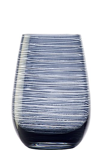 Stölzle Lausitz Twister Becher in rauchgrau, 465 ml, 6er Set Gläser, spülmaschinenfest, Bunte Trinkbecher, hochwertige Qualität