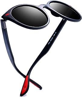 985ca155dd kimorn Gafas De Sol Polarizado Unisexo Deporte Clásico Marco Ovalado Caucho  Rojo Gafas K0625