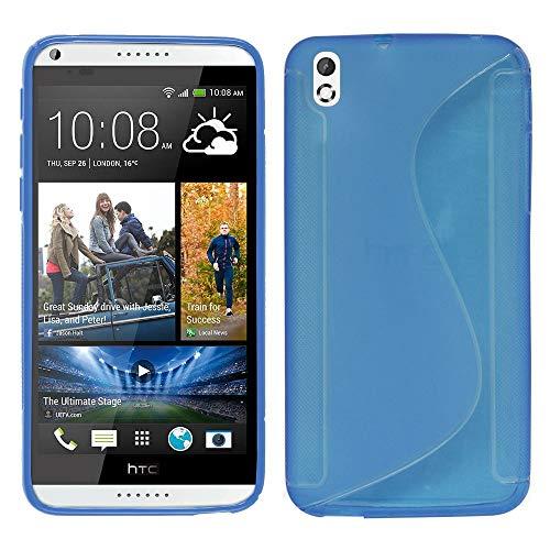Annart Schutzhülle für HTC Desire 816/816G Dual Sim, S-Line TPU Gel Silikon für HTC Desire 816/816G Dual Sim, Blau