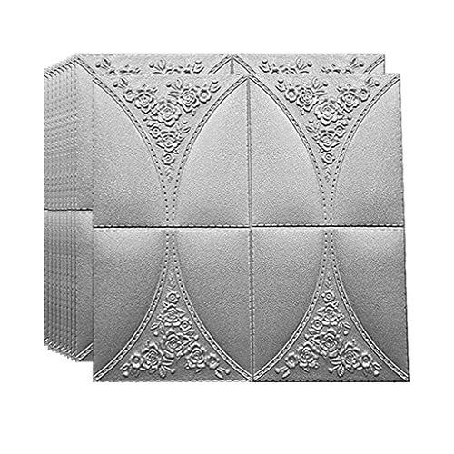 Pegatinas de pared Papel Tapiz Tridimensional 3D a Prueba de Agua, Fondo de TV de Sala de Estar Autoadhesivas, Pegatinas de decoración de Pared de Paquete Suave de cabecera de Dormitorio