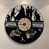 SKYTY Handmade Vinilo Pared Reloj Habitación De Star Wars para Niños Vinilo Record Decoración De...