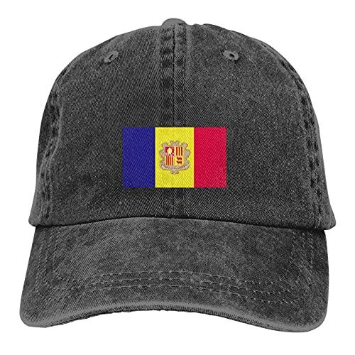Andorra Flag Soft Casquette Gorra Vintage Ajustable Gorra Negro