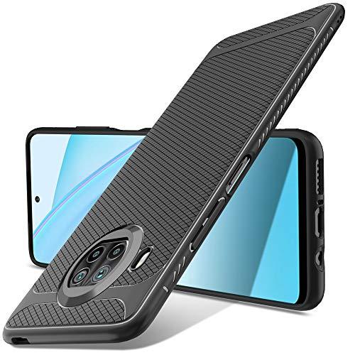 Luibor Funda Xiaomi Mi 10T Lite,Absorción de Golpes Anti-Rasguños Suave Esmerilado Negro Mate Funda Protectora para Xiaomi Mi 10T Lite