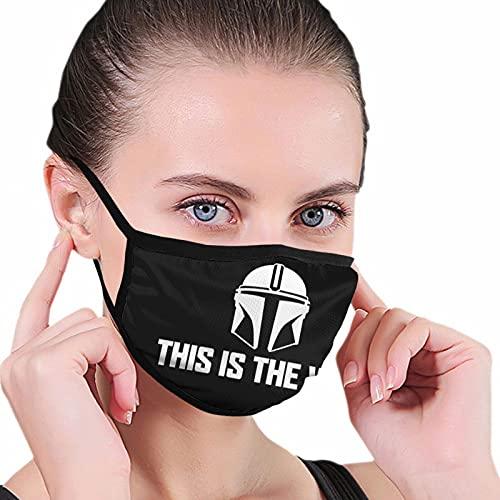 S-tar-W-ars This is The Way Face Madks - Funda para orejas unisex para reemplazar lugares públicos