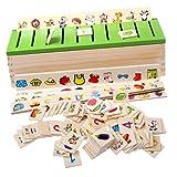 Sharplace Montessori Juegos de Madera Carton 3D Clasificación de Juguetes para...