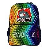 AMON-G US 40,5 cm Cool Trend Pattern Student School Bag Zaino Zaino per la scuola preparatoria per ragazzi e ragazze