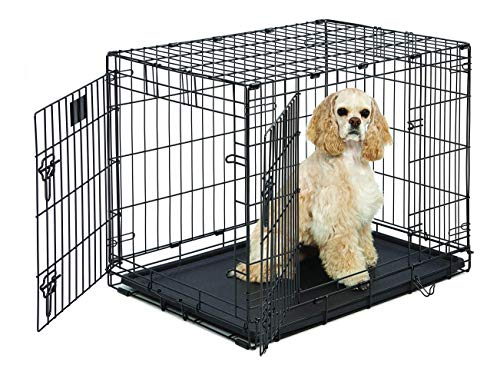 Life Stages LS-1630DD Double Door Folding Crate for Medium Dogs(26 - 40lbs)