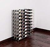VintageView Evolution Wine Tower 4: Metal and Acrylic Freestanding Wine Rack (Golden Bronze/Acrylic)