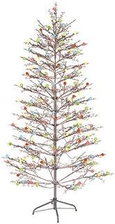GE 200-Light Brown 6.5' Winterberry Tree with LED Sugar Plum Lights