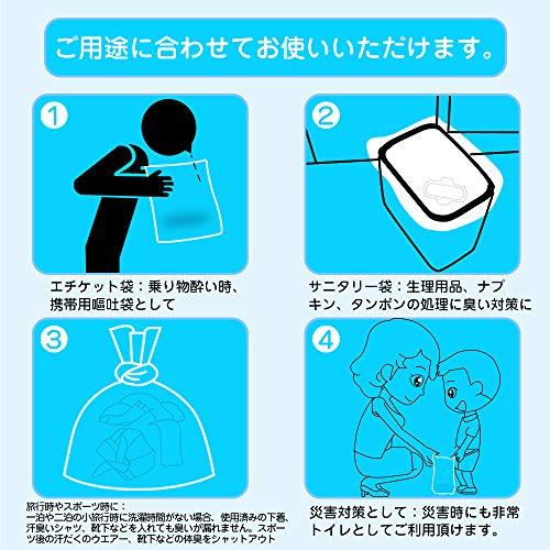 防臭袋おむつがにおわない袋ゴミ袋SSサイズ300枚入り赤ちゃん用オムツ袋袋の口が大きいペットのうんちが臭わない袋生ゴミ処理袋消臭袋(横23cm×縦27cm)