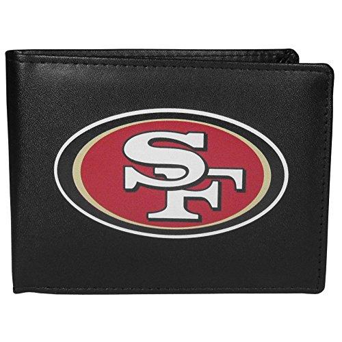 NFL Siskiyou Sports Mens San Francisco 49ers Bi-fold Wallet Large Logo One Size Black