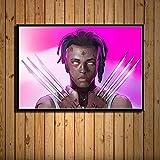 YWOHP Impresión de Arte de Pared Cuadro de la Lona decoración del hogar Hip Hop música Estrella Pintura Modular Cartel nórdico Sala de Estar 40x50cm_No_Framed_12