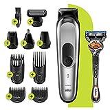 Braun MGK7220 10-en-1 - Tondeuse à Cheveux et Barbe, Tondeuse Nez et Oreilles, Gris Argent