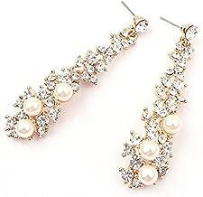Ranoff New Personality Women Rhinestone Long Drop Earrings Ear Stud Earrings for Weddings Parties Gift