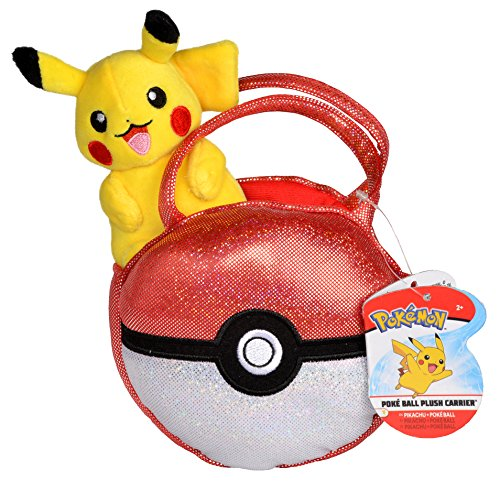 Pokémon Pikachu Pokéball Purse Accessory - With Cute Miniature Pikachu Plush Toy Figure