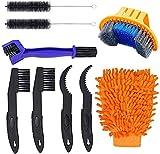 CARACHOME Kits de Herramientas de Cepillo de Limpieza de Bicicleta de 9 Piezas,...