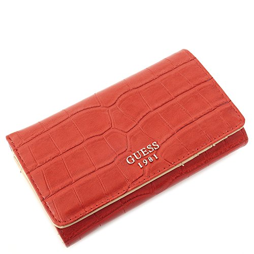 Guess Portemonnaie - Cate - Flap Organizer - Fire
