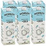 Monsoy - Bebida De Arroz Coco BIO - Caja de 6 x 1L