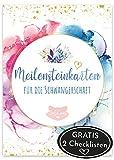 JoliCoon 45 MEILENSTEINKARTEN inkl. 2 Checklisten, Geschenk für Schwangere, Fotokarten Babybauch, Baby Meilenstein Karten, Geschenkidee Babyparty oder zur Schwangerschaft, Schwangerschaftstagebuch