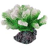 QULONG Decoraciones de jardín de Acuario Adorno de Coral de Resina Decoración de Arrecife de Coral Artificial de Acuario para pecera Decoración de Acuario púrpura