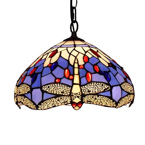 Lámpara de techo decorativa de 12 pulgadas de sombra de vidrio de 1 luz para luz de techo decorativa interior