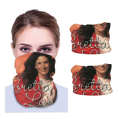 Lawenp Loretta Lynn 2 Pcs Multifunctional Bandanas Balaclava Anti Dust neck Face Scarf