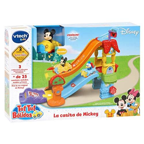 VTech Play Set electrónico interactivo con 'La Casita' y un coche exclusivo de Mickey (80-511822) , color/modelo surtido