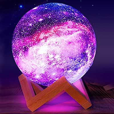 Moon Lamp,Eguled 5.9 inches Star Night Light for Kids Galaxy 16 Colors LED Moon Light with Stand Remote Touch Control and USB Rechargeable Cool Gift for Women Baby Kids Birthday Bedroom Home Decor from Eguled.co