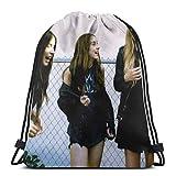 BFGTH bolsa con cordón Drawstring Gym Bag H-a-i-m Unisex Lightweight DIY Fashion Printing Drawstring PE Kit Bag For School Sport For Adult
