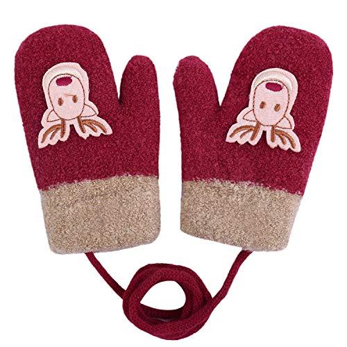 Hawiton Kinder Winter Handschuhe Weihnachtshandschuhe Elchhandschuhe Unisex Winter-Handschuhe für Spielen, Laufen Bedarf