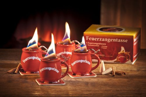 Feuerzangentassen 4er-Set (terracotta)