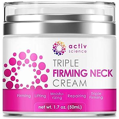 ACTIVSCIENCE Neck Firming Cream - Anti Aging Neck & Décolleté Moisturizer, Double Chin Reducer, Skin Tightening Cream