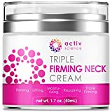 ACTIVSCIENCE Neck Firming Cream, Anti Aging Moisturizer for Neck & Décolleté, Double Chin Reducer, Skin Tightening Cream 1.7 fl oz.