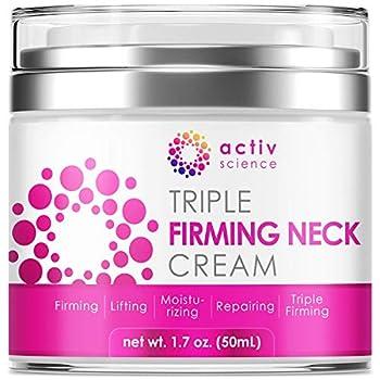 ACTIVSCIENCE Neck Firming Cream Anti Aging Moisturizer for Neck & Décolleté Double Chin Reducer Skin Tightening Cream 1.7 fl oz.