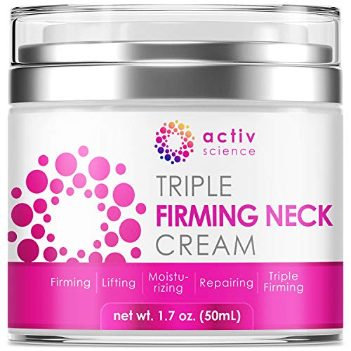 ACTIVSCIENCE Neck Firming Cream, Anti Aging Moisturizer for Neck & Décolleté, Double Chin Reducer,...