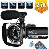 Videocamera Videocamere per Youtube 2.7K Full HD 30 MP Videocamera Digitale 18X...