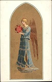 Angelo che suona il cembalo rosso, Beato Angelico, Firenze Angels Original Vintage Postcard