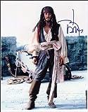 Glänzender Fotodruck Johnny Depp mit Autogramm
