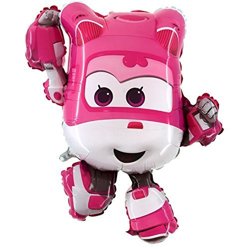 Balloons 85cm Dizzy The Pink Super Wings Foil Balloon - Hello Kitty - Birthday Party Party Supplies …
