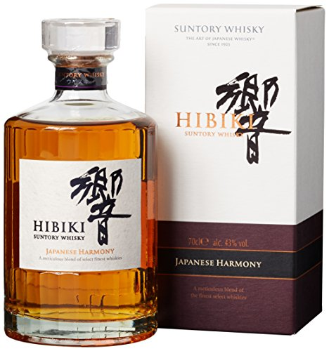 Suntory Whisky Hibiki Japanese Harmony, mit Geschenkverpackung, sanfter langanhaltender Nachgeschmack, 43% Vol, 1 x 0,7l