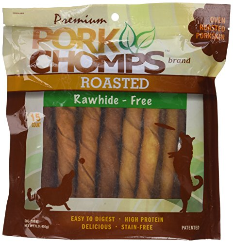 Scott Pet Products 15 Count Pork Chomps Roasted Twistz Treat Net Wt. 1lb (450g)
