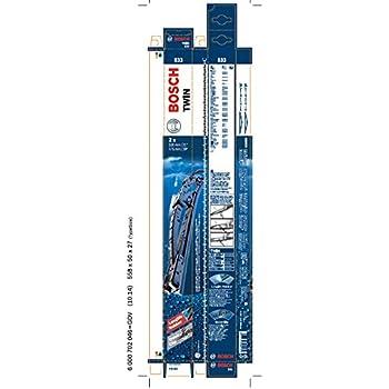 Bosch LIMPIAPARABRISAS set escobillas limpiaparabrisas delantero 530//450mm //// 3 397 118 402