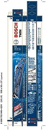 Bosch 3397118405 Twin 533 - Limpiaparabrisas (2 unidades, 530 mm y 475 mm)