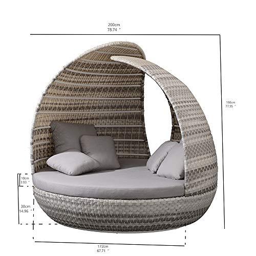 Liegeinsel Piccadilly Lounge White Wash Duo Weaving Sonneninsel Sonnen Lounge