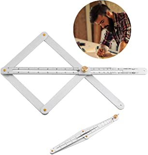 sourcing map Triangle Ruler Square Set 30//60 and 45//90 Degrees 17cm//18cm Triangle Rafter Angle Ruler Set of 2