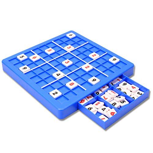 Dfghbn Sudoku Spielzeug, Puzzle logische Math Challenge Wettbewerb Schachspiel, Übung Denken Elternkind Pädagogische Plastik (Size : Small Chess Board with Drawer)